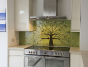 Bespoke Glass Splashbacks Green Tree of Life Cornwall