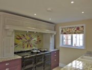 Bespoke Fused Glass Art Splashback West Hanningfield Essex
