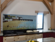 Fused Glass Art Splashback Dartmouth Dock