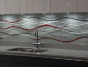 Fused Glass Art Wave Splashback Essex