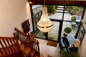 Bespoke Fused Glass Art Lancashire Atrium View