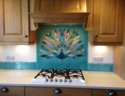 Glass Splashbacks Hampshire Peacock Panel 1