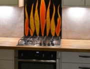 Fused Glass Kitchen Splashbacks Kenilworth Warwickshire