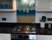 Coloured Glass Splashbacks Southbourne Dorset 1