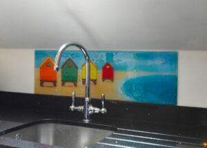 Coloured Glass Splashbacks Southbourne Dorset 2
