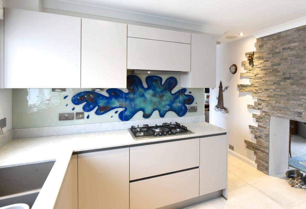 Fused Glass Art Splashback Ewell Surrey