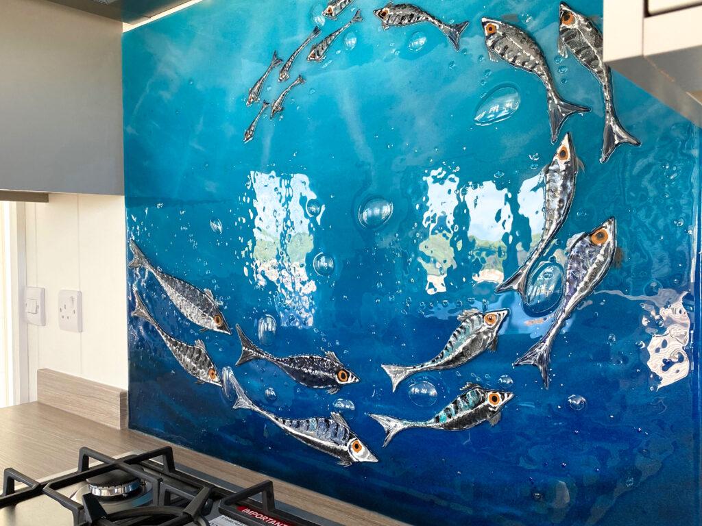 Glass Splashbacks Fish Panel Newquay